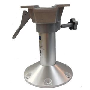 "12"" fixed aluminium seat pedestal with swivel"